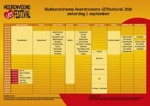 Heerenveens uitfestival blokkenschema 1 sept 2018
